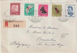 """SUISSE : REC . """" BASEL"""" .  POUR LA BELGIQUE . 1953 . - Briefe U. Dokumente"""