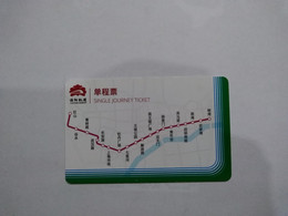 China Transport Cards, Metro Line, Metro Card, Luoyang City, (1pcs) - Unclassified