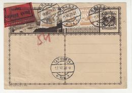 Austria Postal Stationery Postcard Posted Express 1929 Graz To Wien B210501 - Cartas