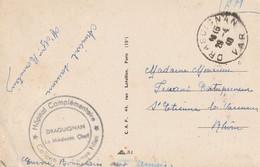 Hôpital Complémentaire Collège Jeunes Filles DRAGUIGNAN Var. Sur CP De Draguignan Pour St Etienne Varennes (Rhône) - WW II