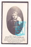 DP Foto - Studente Zondagsschool - Augusta Decommere / Noppe 17j. ° Moorsele Wevelgem 1907 † 1924 - Images Religieuses