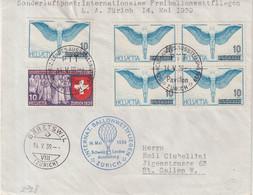 SUISSE : PA .  SONDERLUFPOST . L. A . ZURICH 14 MAI 1939 . - Briefe U. Dokumente