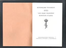 KONINKLIJKE WOORDEN 1950 VAN HARE MAJESTEIT KONINGIN JULIANA - 31 DECEMBER 1950 (OD 108) - Historical Documents
