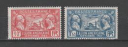 FRANCE / 1927 / Y&T N° 244/245 ** : Légion Américaine (2 TP) X 1 Paire - Ungebraucht