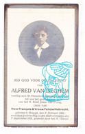DP Foto - Student St.-Franciscus Xaverius - Alfred Van Iseghem / Hubrecht 12j. ° Brugge 1908 † 1920 - Images Religieuses