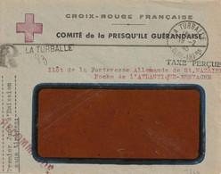 La Turballe Poche Atlantique Ilot De St Nazaire. Croix Rouge  Comité Presqu'ile Guérandaise. 19 02 45. Arrivée La Baule - WW II