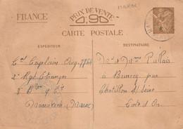 EP Iris Interzones Marrakech Maroc  Pour Chatillon  Cote D'Or. 2ième Régiment Etranger Le Colonel. 24 1 1941 Censure - WW II