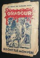 """Rare Recueil De Chansons De Léon Deplanque Avec Paroles, """"Les Crimes Des Barbares Nazis"""" Oradour, Illustré, De Gaulle - Scores & Partitions"""