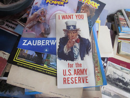 I Want You For The U S Army Reserve Serve With America S Strength In Reserve 1956 - Dokumente