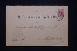 ALLEMAGNE - Entier Postal De Ulm En 1902 - L 97727 - Stamped Stationery