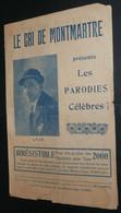 """Rare Recueil De Chansons De Lyjo Avec Paroles, """"Le Cri De Montmartre"""" Les Parodies Célèbres, Illustré - Scores & Partitions"""