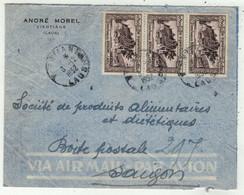 Laos // Royaume Du Laos // Lettre De Vientiane Pour Saigon 3/12/1952 - Laos