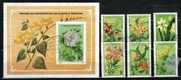 St. Tomé & Príncipe 1979 Mi 568-573, Sh33 Flowers - CTO - Sao Tome And Principe