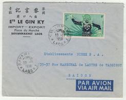 Laos // Royaume Du Laos // Lettre De Savannakhet Pour Saigon 10/11/1956 - Laos