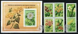 St. Tomé & Príncipe 1979 Mi 568-573, Sh33 Flowers - MNH - Sao Tome Et Principe
