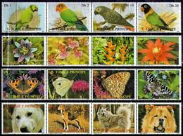 St. Tome & Principe 1987 - Mi 989-1004 Fauna - CTO - Sao Tome And Principe
