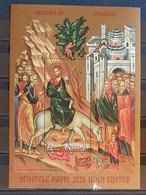 ROMÂNIA 2020 HOLY EASTER M/SHEET PERFORED MNH - Easter