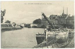 LE LION-D'ANGERS (49) – Le Quai. Bazar Lionnais, N° 1136. - Altri Comuni