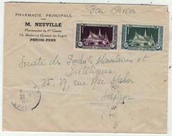 Cambodge // Lettre De Phnom-Penh Pour Saigon 20/8/1952 - Kambodscha