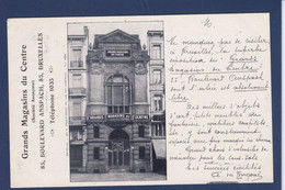 CPA Belgique Belgia Belgie Bruxelles Commerce Shop Magasin Circulé - Avenues, Boulevards