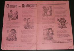 """Rare """"Chanson Des Boutiquiers"""", Paroles, """"La Loi De Trois Ans"""" Thomas De La Borde, Illustré - Scores & Partitions"""