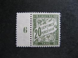 TB Taxe N°31, Neuf XX . - 1859-1955 Mint/hinged