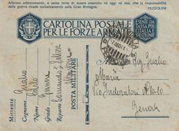 MENTON Occupation Italienne Oblit VENTIMIGLIA FERROVIA 7 08 41 CPFM. MENTONE Per GENOVA Censure - WW II