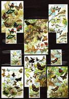 St. Tome & Principe 1989 Mi 1143-1147, Sheet 215-220 Butterflies - CTO - Sao Tome Et Principe