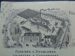 FACTURE - 72 - DEPARTEMENT DE LA SARTHE - BESSE/BRAYE 1915 - FILATURE & TISSAGE DE COTONS : A. VETILLART - Unclassified