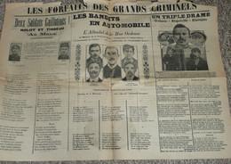"""Rare Recueil De Chansons Avec Paroles, Journal Illustré """"Les Forfaits Des Grands Criminels"""" - Scores & Partitions"""