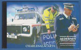 ALDERNEY AURIGNY 2003 COMPLETE PRESTIGE BOOKLET POLICE SERVICE  SG ASB 13 - Alderney