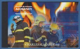 ALDERNEY AURIGNY 2004 COMPLETE PRESTIGE BOOKLET FIRE SERVICE  SG ASB 14 - Alderney