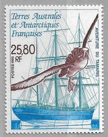 R26 - TAAF - PO 201** MNH De 1995 - L' AVENTURE Du TAMARIS  - Voilier Et Oiseau De Mer. Sous La Faciale - Neufs