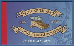 ALDERNEY AURIGNY 2005 COMPLETE PRESTIGE BOOKLET BATTLE OF TRAFALGAR  SG ASB 15 - Alderney