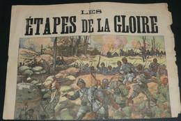 """Rare Recueil De Chansons Avec Paroles, """"Les Etapes De La Gloire"""" Illustré, WW1 Wwi France-Serbie - Scores & Partitions"""