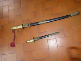 SABRE Et DAGUE D'OFFICIER DE MARINE JAPONAIS WW2  (Repro) - Blankwaffen