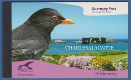 ALDERNEY AURIGNY 2007 COMPLETE PRESTIGE BOOKLET PASSERINES  SG ASB 17 - Alderney