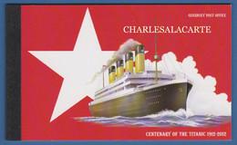 ALDERNEY AURIGNY 2012 COMPLETE PRESTIGE BOOKLET  TITANIC ANNIVERSARY  SG ASB 21 - Alderney