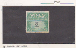 US 1942 4c Wines Revenue Stamp Scott # RE121 Used - Revenues