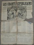 """Rare Recueil """"Les Chants Républicains De La France"""", Paroles, Illustré Par Dascher, Début XXe - Scores & Partitions"""
