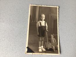 Photo  Carte D'époque En Studio Ours En Peluche Avec Enfant - Fotografie
