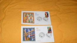 LOT 2 ENVELOPPES FDC DE 2002../ L. AMSTRONG, E. FITZGERALD ...CACHETS PARIS + TIMBRE - 2000-2009
