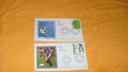 LOT 2 ENVELOPPES FDC DE 2002../ COUPE DU MONDE DE FOOTBALL ...CACHETS PARIS + TIMBRE - 2000-2009