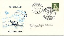Greenland DOGSLEDGEPOST Jakobshavn Rodebay 13-2-1970 Sent To Denmark - Briefe U. Dokumente