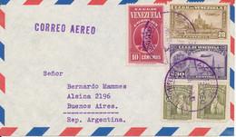 Venezuela Air Mail Cover Sent To Argentina 1940 Topic Stamps - Venezuela