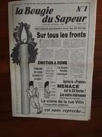 La Bougie Du Sapeur N°1 Paru Le 29/02/1980 - 1950 à Nos Jours