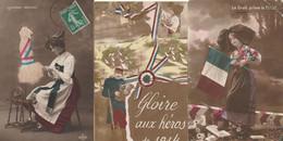 MILITARIA Patriotique - ALSACE - Lot De 3 CPA - Patriotic