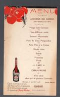 Menu ANCIENS DU MAROC (139e Territorial.1er Et 2e Bataillons) 14 Avril 1938. Pub CHERRY ROCHER (PPP28848) - Menus
