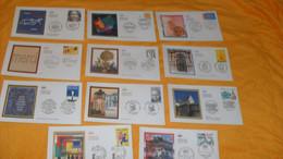 LOT 11 ENVELOPPES FDC DIVERS DE 2003../ FRANCE/SLOVAQUIE, ART DE L'AFFICHE, NANTES, PIERRE BEREGOVOY, MERCI...CACHETS + - 2000-2009