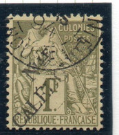 37CRT725 - NUOVA CALEDONIA 1892 , Yvert N. 34 Usato . - Used Stamps